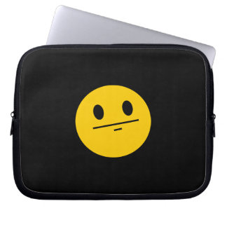 Poker Face Smiley face Computer Sleeve