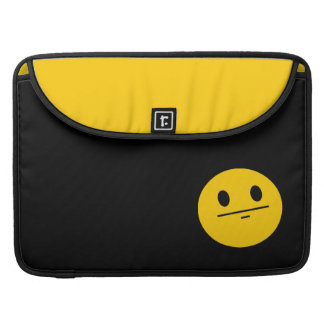 Poker Face Smiley face MacBook Pro Sleeves