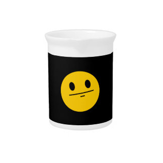 Poker Face Smiley face Drink Pitchers
