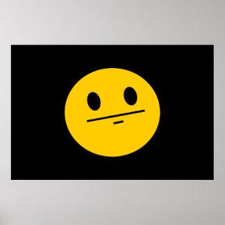 Poker Face Smiley face Poster