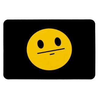 Poker Face Smiley face Rectangle Magnet