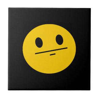 Poker Face Smiley face Ceramic Tile