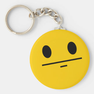 Poker Face Smiley Key Chains