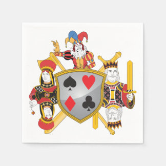 Poker Family Crest Disposable Serviette