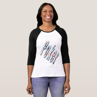 Poker Flush Dimensional Logo Ladies Raglan T-shirt