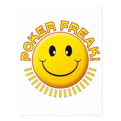 Poker Freak Smile Post Card