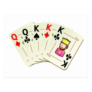 Poker Full House Postcard
