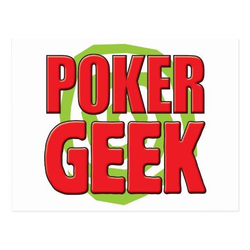 Poker Geek Post Card