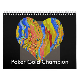 Poker Gold Champion Calendars