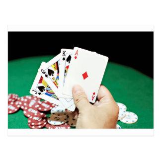 Poker good hand postcard