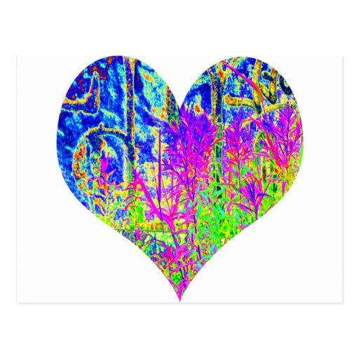 Poker Graffiti Heart Postcards