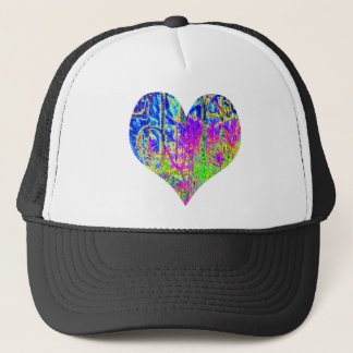 Poker Graffiti Heart Trucker Hat
