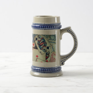 """Poker"" Gray/Blue 22 oz Stein"