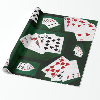 Poker Hands collage Wrapping Paper