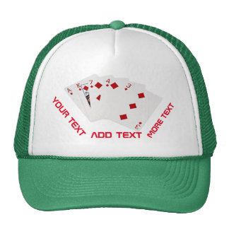 Poker Hands - Flush - Diamonds Suit Cap