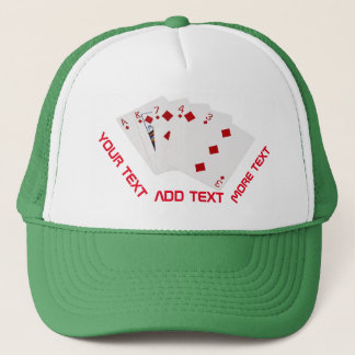 Poker Hands - Flush - Diamonds Suit Trucker Hat