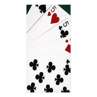 Poker Hands - Four Of A Kind - Fives and Eight Photo Card