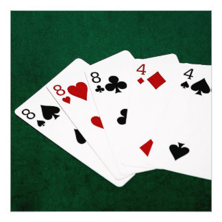 Poker Hands - Full House - Eight and Four Photograph