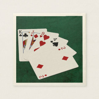 Poker Hands - High Card - King Paper Serviettes