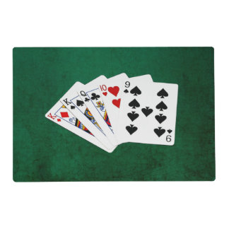 Poker Hands - One Pair - King Laminated Placemat