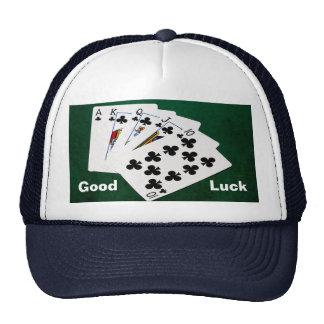 Poker Hands - Royal Flush - Clubs Suit Cap