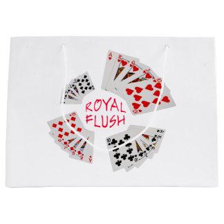 Poker Hands - Royal Flush Large Gift Bag