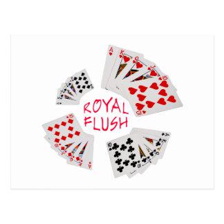 Poker Hands - Royal Flush Postcard