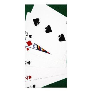 Poker Hands - Three Of A Kind - Two Custom Photo Card