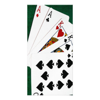Poker Hands - Two Pair - Ace, King Photo Cards