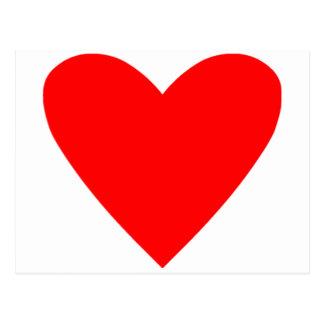 Poker Heart Post Card