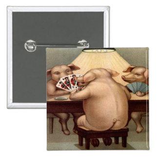 Poker Hog: Arkansas Card Shark 15 Cm Square Badge