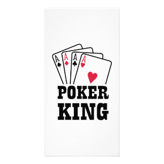 Poker king cards photo greeting card