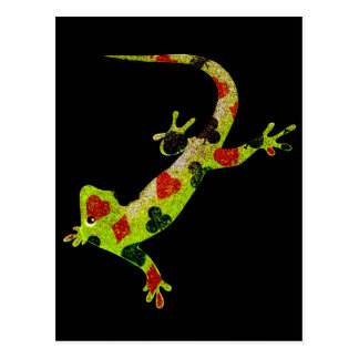 Poker Lizard Postcard