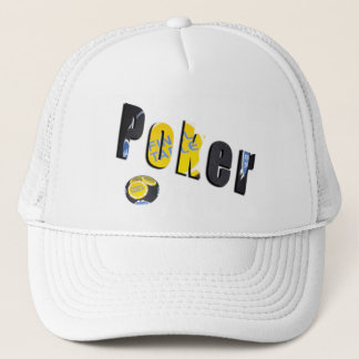 Poker Logo Made From Poker Chips, Trucker Hat
