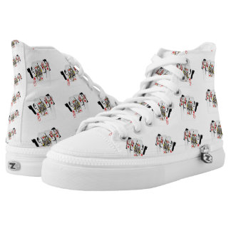 Poker Logo, Queens, High Tops Unisex Zipz Shoes