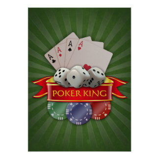 Poker Mania - Cards, Dices, Chips Poster