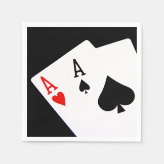 Poker Napkins Disposable Serviettes