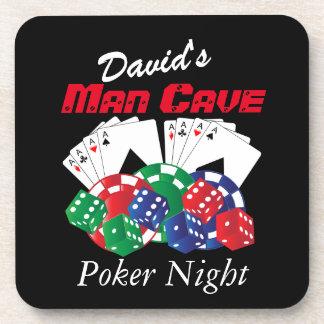 Poker Night at the Man Cave Coaster