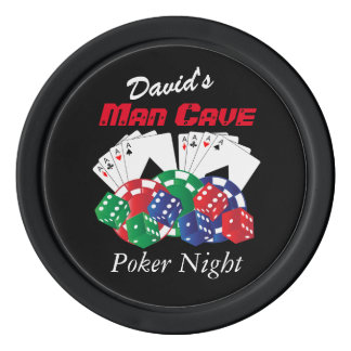 Poker Night at the Man Cave Poker Chips