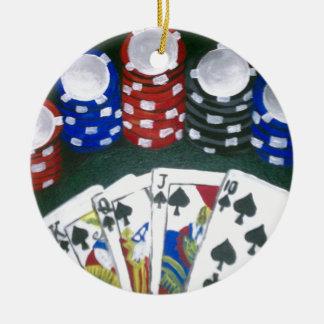 Poker Night Ceramic Ornament