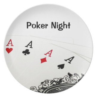 Poker Night Plate