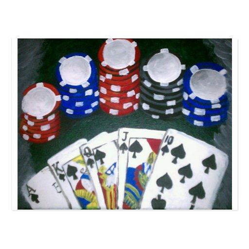 Poker Night Post Cards