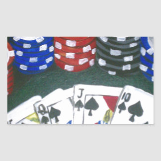 Poker Night Rectangular Sticker