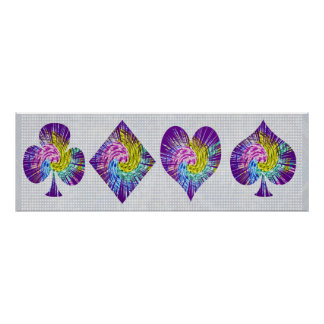 POKER Night : Spade Diamond Heart n Clubs Poster