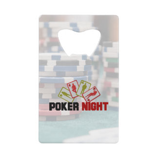 Poker Night with Playing Cards and Poker Chips