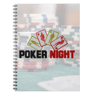 Poker Night with Playing Cards and Poker Chips Notebook
