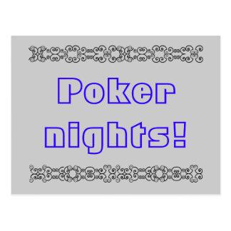 Poker nights postcard