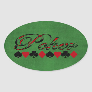 Poker Oval Sticker