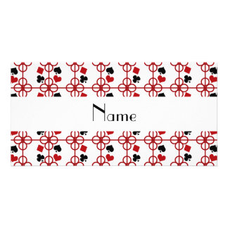 Poker personalized name customized photo card