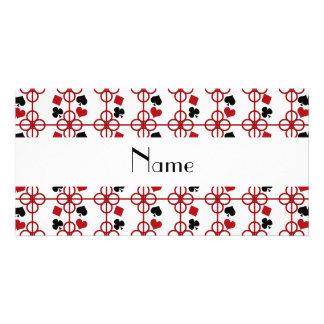 Poker personalized name customized photo card